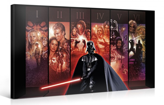 episode 1 6 star wars kunstdruck star wars toys. Black Bedroom Furniture Sets. Home Design Ideas